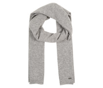 Softer Schal in Melange-Design grau