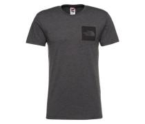 T-Shirt 'M S/S Fine Tee' dunkelgrau