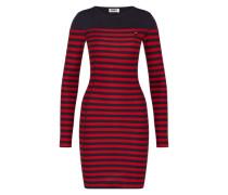 Kleid im Streifen-Design blau / rot