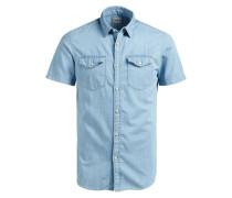 Klassisches Kurzarmhemd blau