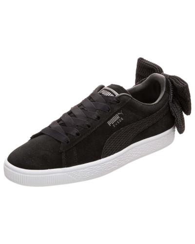 Sneaker 'Suede Bow' schwarz / weiß