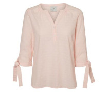 Feminine Bluse mit 3/4 Ärmeln rosa