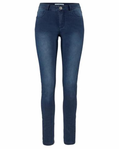 Stretch-Jeans 'Lola' blue denim