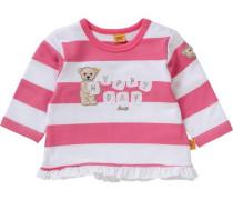 Baby Sweatshirt für Mädchen pink / weiß