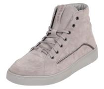Sneaker High in Veloursleder grau