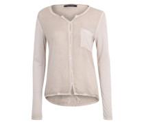 Bluse in Vintage-Optik beige / braun