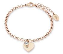 Armschmuck: Armband mit Swarovski Kristall »Herz So1348/1« gold
