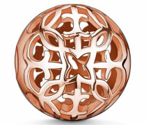 Bead 'Karma Bead Ornament K0011-415-12' rosegold / schwarzmeliert
