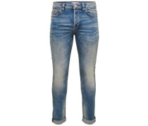 Slim Fit Jeans Loom light blue blau