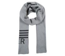Schal mit Label-Schriftzug grau