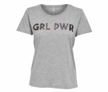 T-Shirt 'girl' graumeliert
