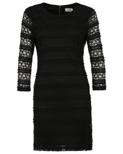 molly bracken damen kleid mit spitze schwarz reduziert. Black Bedroom Furniture Sets. Home Design Ideas