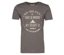 Shirt 'wording logo tee' grau