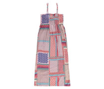 'Kleid mit Spaghettiträgern' blau / mischfarben / altrosa