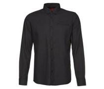 Hemd 'Floyd soft twill dobby shirt' schwarz