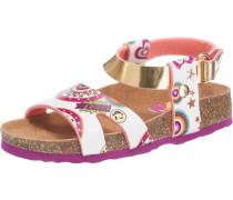 Sandalen für Mädchen mischfarben / weiß