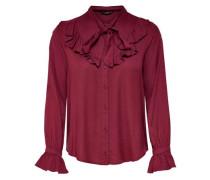 Rüschen-Langarmhemd merlot