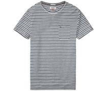 Hilfiger Denim T-Shirt 'thdm Stripe CN Knit S/S 17' grau / schwarz