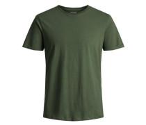 Basic T-Shirt dunkelgrün