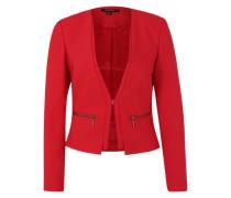 Blazer mit Reißverschlusstaschen rot