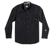 Langarm-Hemd »Allover Wilsden« schwarz