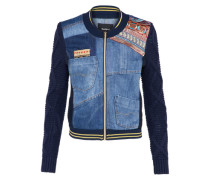 Jacke 'denim' blue denim / mischfarben
