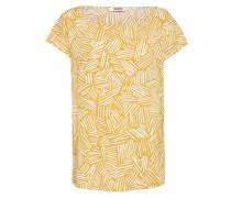 Shirt 'Melvin Printed' senf / weiß