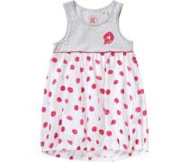 Kinder Jerseykleid graumeliert / rot / weiß
