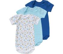 Bodys 3er-Pack für Jungen hellblau / dunkelblau / hellgelb