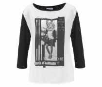 3/4-Arm-Shirt schwarz