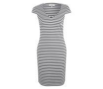 Midi-Kleid mit Streifen blau / weiß