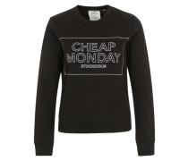 Sweatshirt mit Logo-Box-Print schwarz