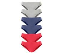 Slip (6 Stck.) blau / grau / rot
