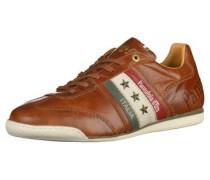 Sneaker braun / dunkelgrün / rot / weiß
