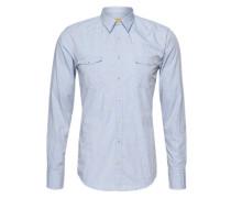 Hemd 'Edo Slim E' blau