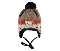 Mütze Strick braun