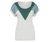 Kurzärmeliges Shirt 'Kashi SS' rauchblau / grau / tanne