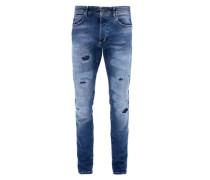 Clerk Regular: Destroyed-Jeans blau