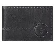 Wetland Geldbörse Leder 10 cm schwarz
