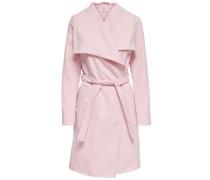 Lang drapierter Trenchcoat rosa