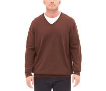 Pullover mit V-Ausschnitt braun
