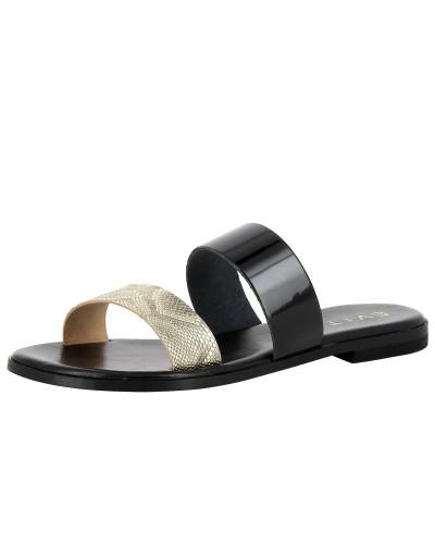 Sandale 'olimpia' gold / schwarz