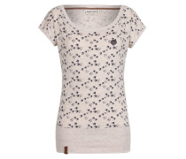T-Shirt 'Wolle will V (n) 6' beige