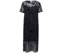 Spitzen-Kleid mit kurzen Ärmeln nachtblau