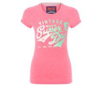 T-Shirt mit glitzerndem Logoprint pink