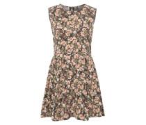 Kleid mit All Over-Print pink / schwarz