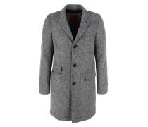 Leicht wattierter Wollmix-Mantel grau