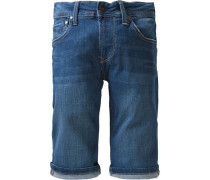Jeansshorts Slim Regular Becket für Jungen blue denim