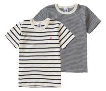 Doppelpack Unterhemden für Jungen schwarz / weiß