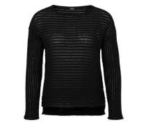 Lässiger Grobstrick-Pullover schwarz
